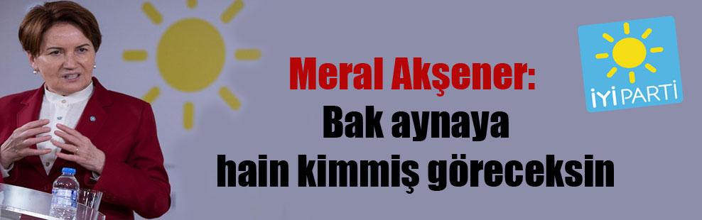Meral Akşener: Bak aynaya hain kimmiş göreceksin