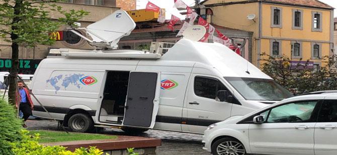 TRT Muharrem İnce'nin mitingine sonunda geldi!