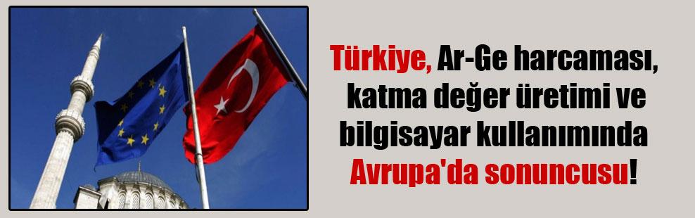 Türkiye, Ar-Ge harcaması, katma değer üretimi ve bilgisayar kullanımında Avrupa'da sonuncusu!