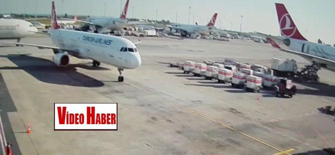 THY uçağının kuyruğuna başka bir hava yolunun uçak kanadı çarptı