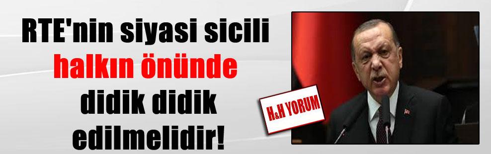 RTE'nin siyasi sicili halkın önünde didik didik edilmelidir!