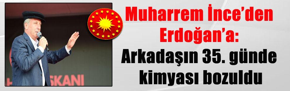 Muharrem İnce'den Erdoğan'a: Arkadaşın 35. günde kimyası bozuldu
