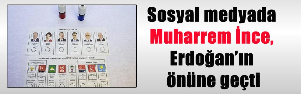 Sosyal medyada Muharrem İnce, Erdoğan'ın önüne geçti