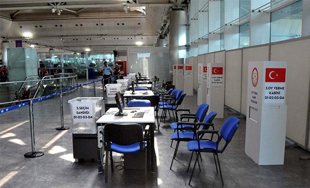 Atatürk Havalimanı'na sandıklar kuruldu, ilk oy 7 Haziran'da