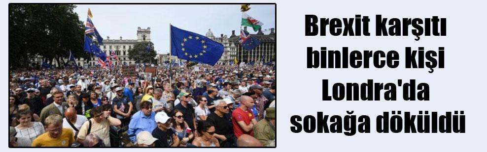 Brexit karşıtı binlerce kişi Londra'da sokağa döküldü