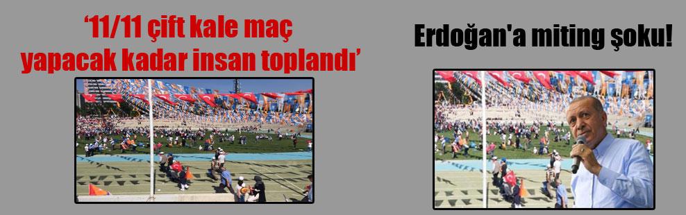 Erdoğan'a miting şoku!