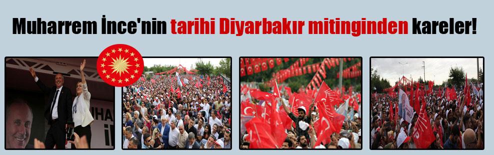 Muharrem İnce'nin tarihi Diyarbakır mitinginden kareler!