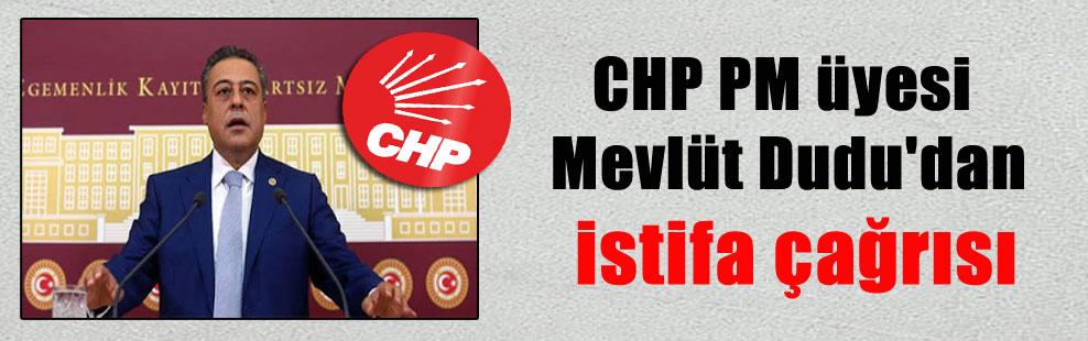 CHP PM üyesi Mevlüt Dudu'dan istifa çağrısı
