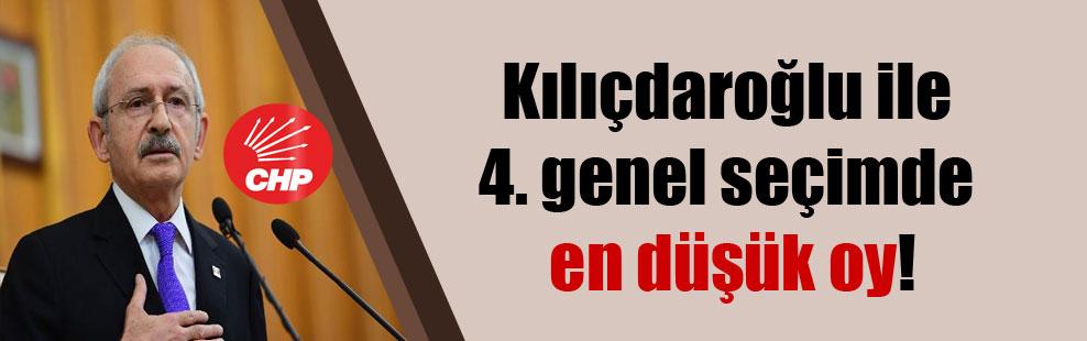 Kılıçdaroğlu ile 4. genel seçimde en düşük oy!
