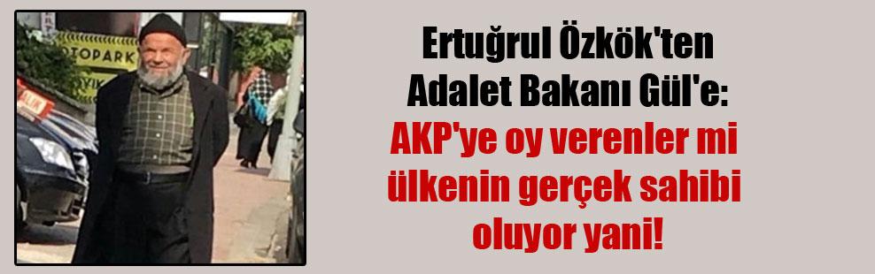 Ertuğrul Özkök'ten Adalet Bakanı Gül'e: AKP'ye oy verenler mi ülkenin gerçek sahibi oluyor yani