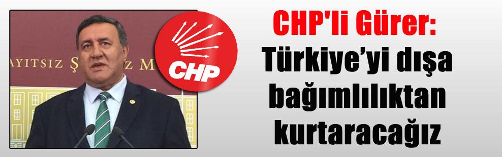 CHP'li Gürer: Türkiye'yi dışa bağımlılıktan kurtaracağız