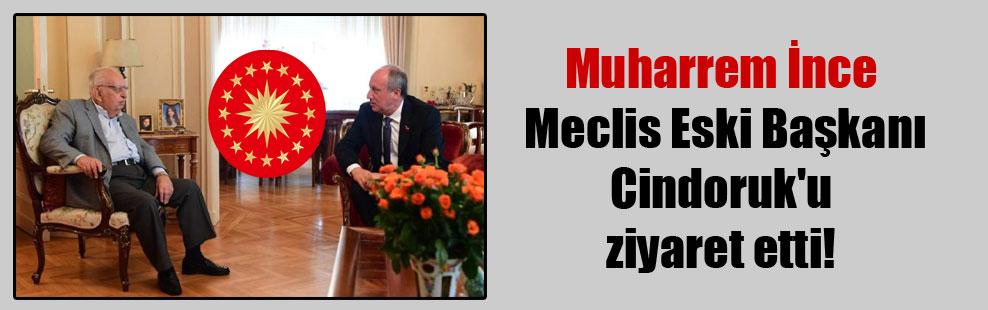 Muharrem İnce Meclis Eski Başkanı Cindoruk'u ziyaret etti!