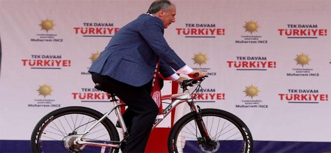 Muharrem İnce bisikletçilere de 'umut' oldu