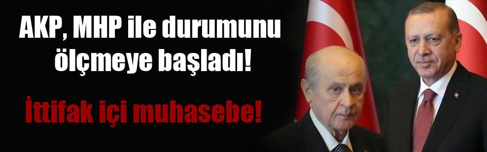 AKP, MHP ile durumunu ölçmeye başladı! İttifak içi muhasebe!