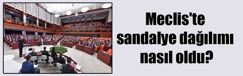 Meclis'te sandalye dağılımı nasıl oldu?