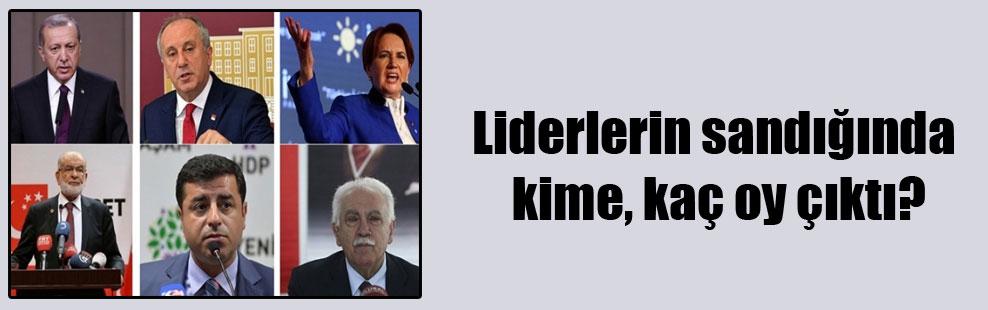 Liderlerin sandığında kime, kaç oy çıktı?