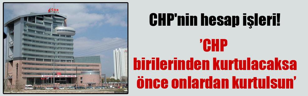 CHP'nin hesap işleri!