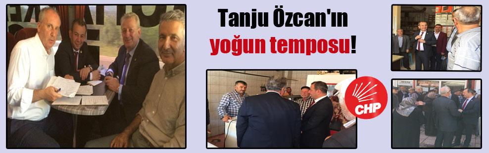 Tanju Özcan'ın yoğun temposu!
