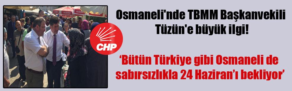 Osmaneli'nde TBMM Başkanvekili Tüzün'e büyük ilgi!