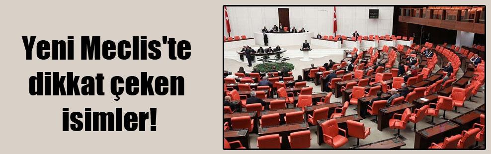 Yeni Meclis'te dikkat çeken isimler!