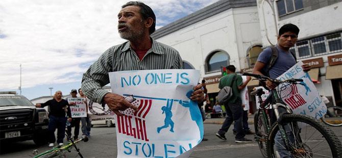 ABD'de on binlerce kişi Trump'ın göçmen politikasına karşı sokağa çıktı
