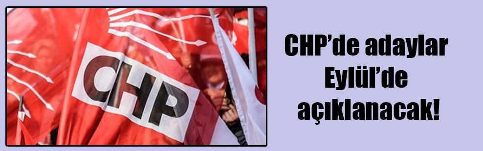 CHP'de adaylar eylülde açıklanacak!