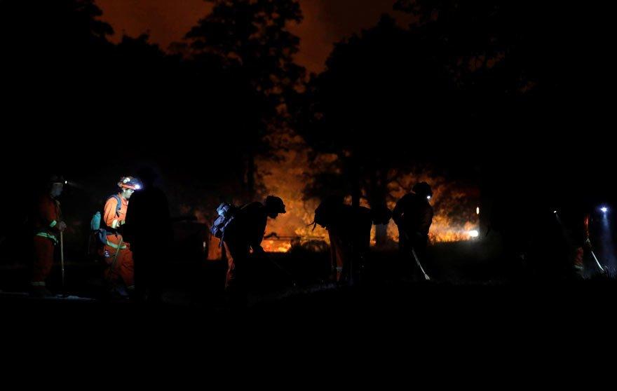 ABD'nin Kaliforniya eyaletinde büyük yangın! OHAL ilan edildi