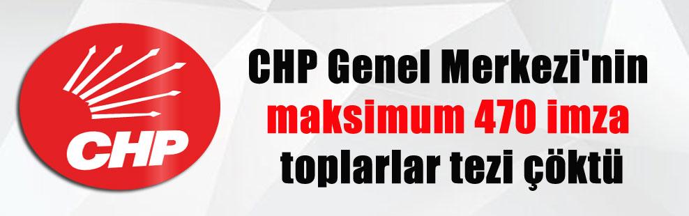 CHP Genel Merkezi'nin maksimum 470 imza toplarlar tezi çöktü