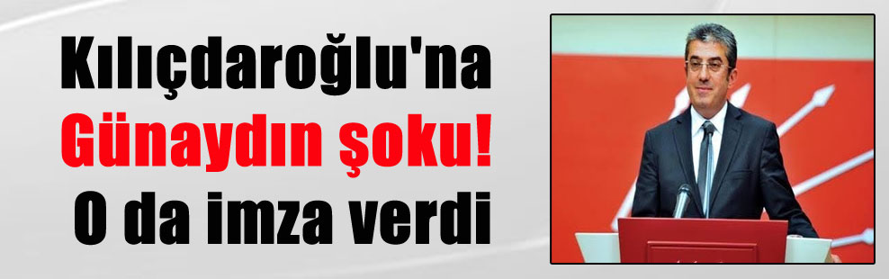 Kılıçdaroğlu'na Günaydın şoku! O da imza verdi