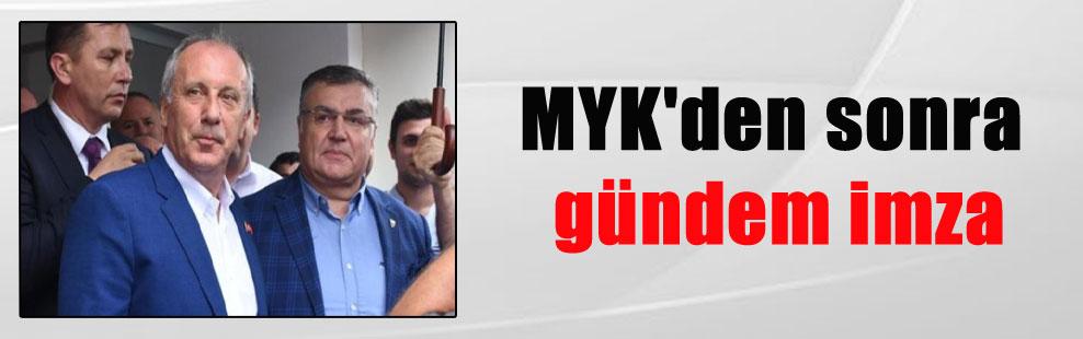 MYK'den sonra gündem imza