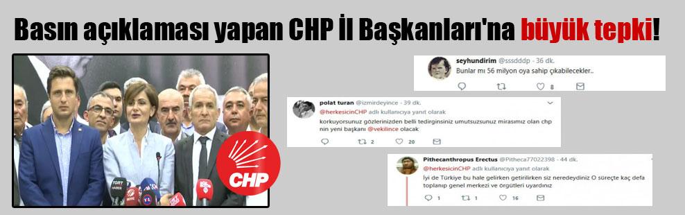 Basın açıklaması yapan CHP İl Başkanları'na büyük tepki!