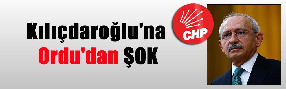 Kılıçdaroğlu'na Ordu'dan ŞOK