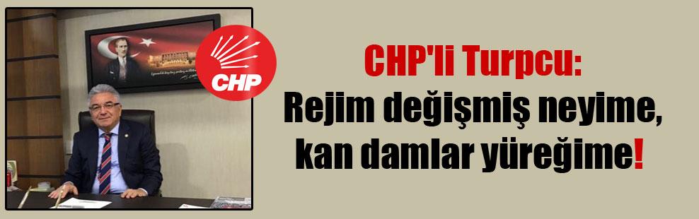 CHP'li Turpcu: Rejim değişmiş neyime, kan damlar yüreğime! 