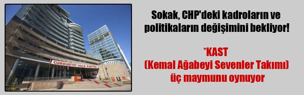 Sokak, CHP'deki kadroların ve politikaların değişimini bekliyor!