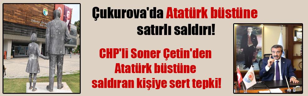 CHP'li Soner Çetin'den Atatürk büstüne saldıran kişiye sert tepki!