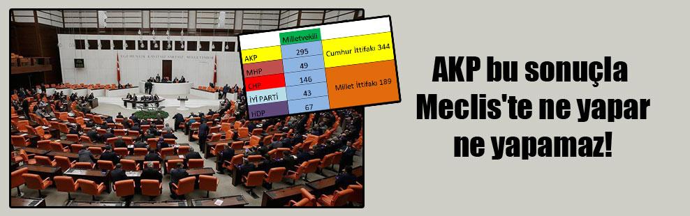 AKP bu sonuçla Meclis'te ne yapar ne yapamaz!