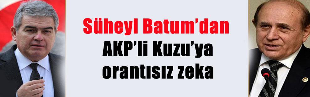 Süheyl Batum'dan AKP'li Kuzu'ya orantısız zeka