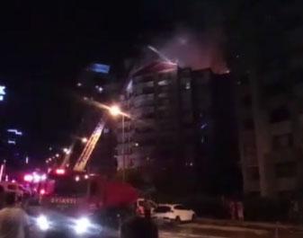 Ankara'da yangın: Bina boşaltıldı