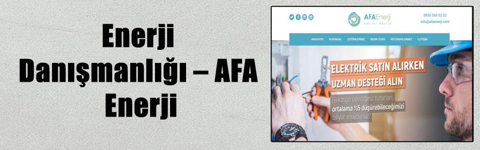 Enerji Danışmanlığı – AFA Enerji