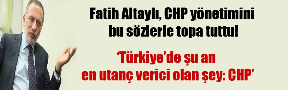 Fatih Altaylı, CHP yönetimini bu sözlerle topa tuttu!
