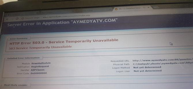 CHP Efeler'deki 'bayramlaşma töreni' haberini yapan aymedyatv'nin sitesi hacklendi!