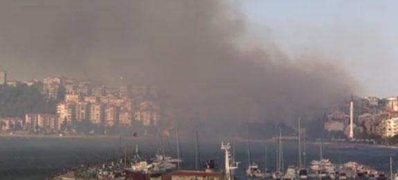Çanakkale Boğazı'nda bir yük gemisinde yangın çıktığı ihbarı