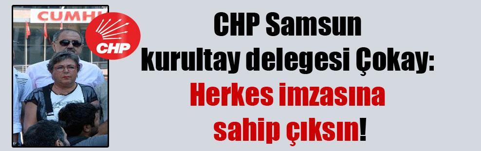 CHP Samsun kurultay delegesi Çokay: Herkes imzasına sahip çıksın!