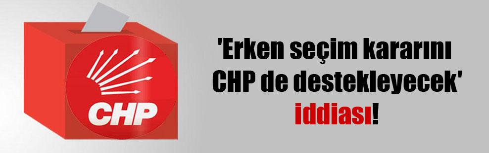 'Erken seçim kararını CHP de destekleyecek' iddiası!