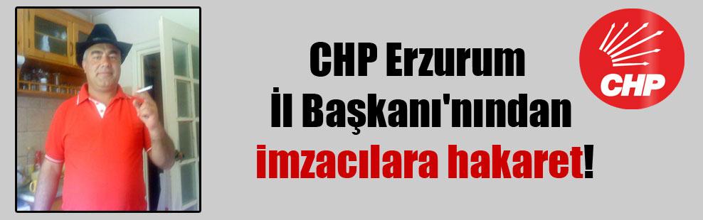 CHP Erzurum İl Başkanı'nından imzacılara hakaret!