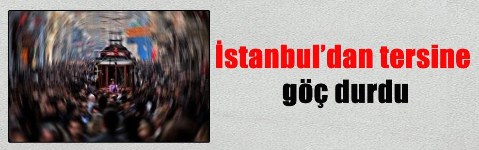İstanbul'dan tersine göç durdu