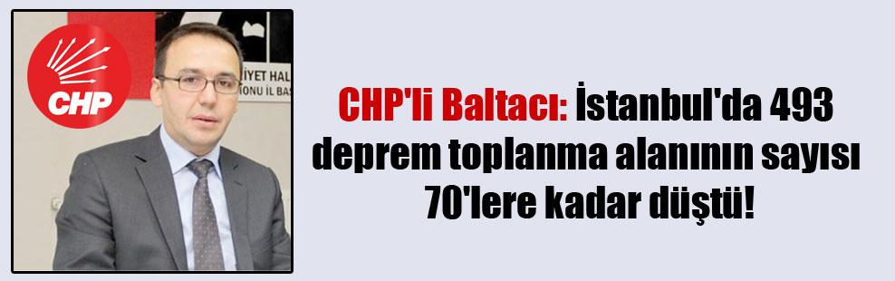 CHP'li Baltacı: İstanbul'da 493 deprem toplanma alanının sayısı 70'lere kadar düştü!