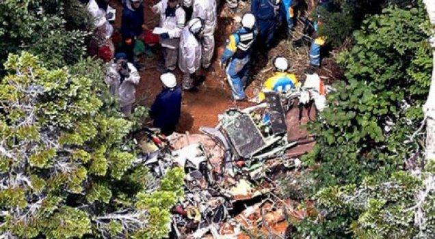 Japonya'da helikopter kazası