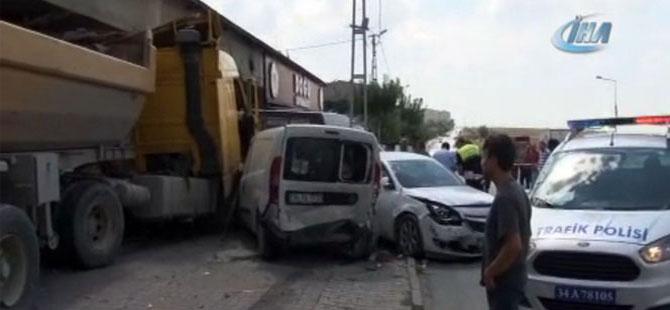 Başakşehir'de hafriyat kamyonu dehşeti