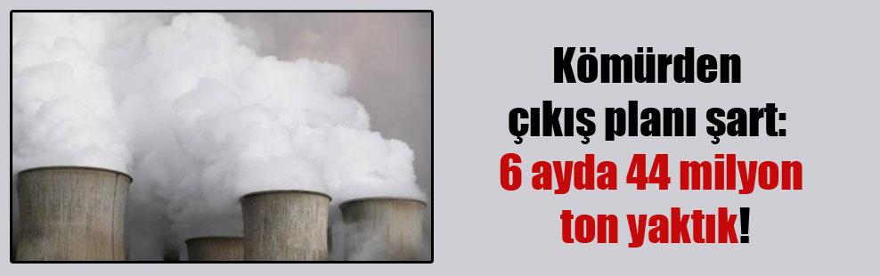 Kömürden çıkış planı şart: 6 ayda 44 milyon ton yaktık!